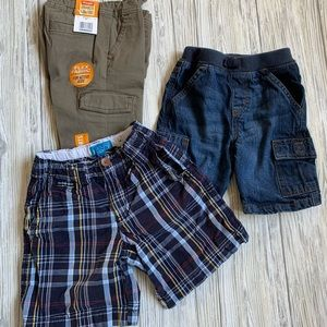 3 pairs of boy 4T shorts